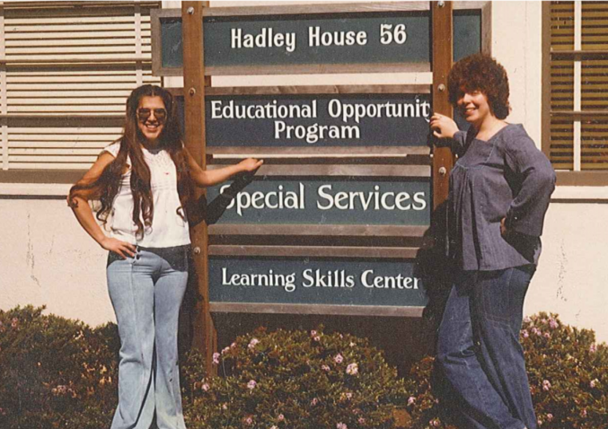 Two students in Front of EOP office at Hadley House