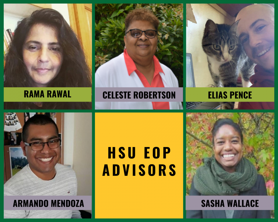 Collage of EOP/SSS Advisors working in home offices and outdoors