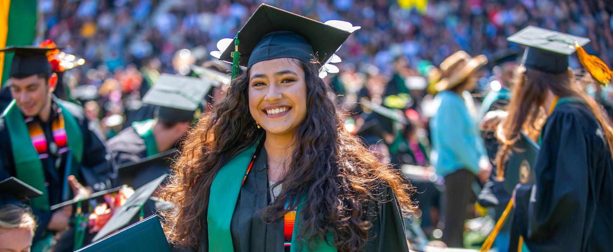 EOP student at graduation
