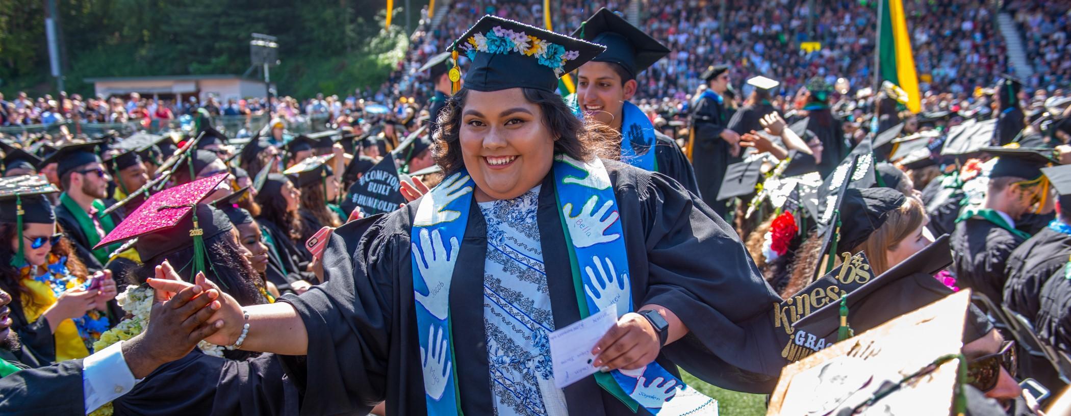estudiante en la graduation