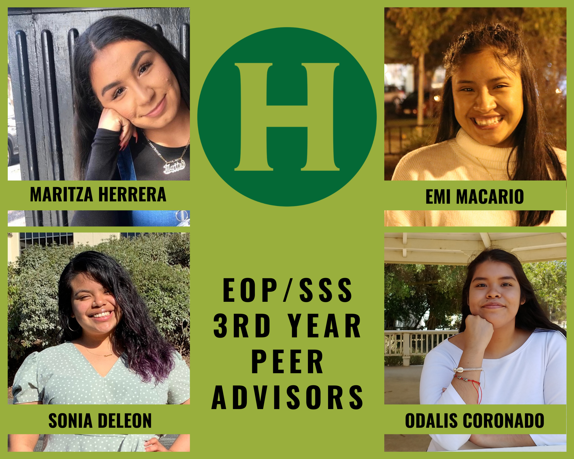 four women and the words EOP/SSS 3rd Year Peer Advisors
